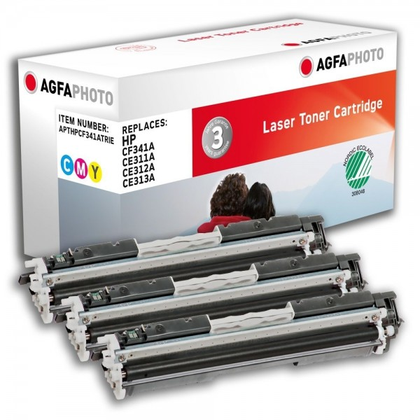 AGFA Photo Toner Multipack HPCF341ATR für HP Color LaserJet PRO CP1000 Series