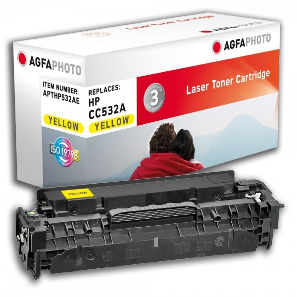 AGFA Photo Toner gelb HP532AE für HP Color LaserJet CM2300 Series