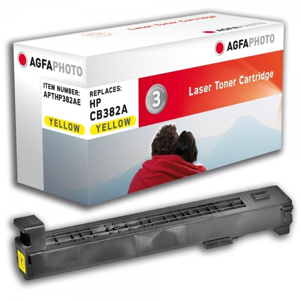 AGFA Photo Toner Gelb HP382AE HP Color LaserJet CP6015 CM6030 6040