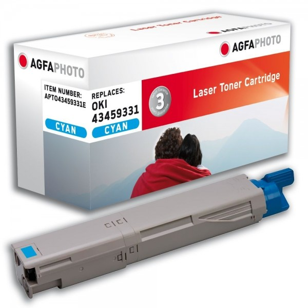 AGFA Photo Toner cyan 43459331E für Oki Data C3300 C3400
