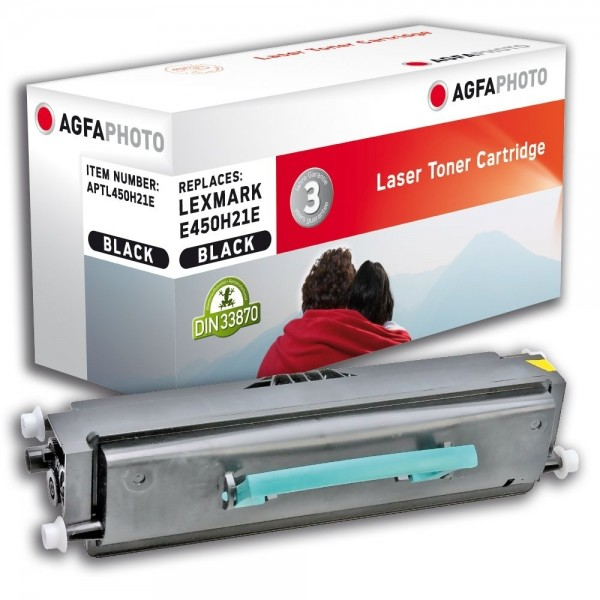 AGFA Photo Toner schwarz 450H21E für Lexmark E450