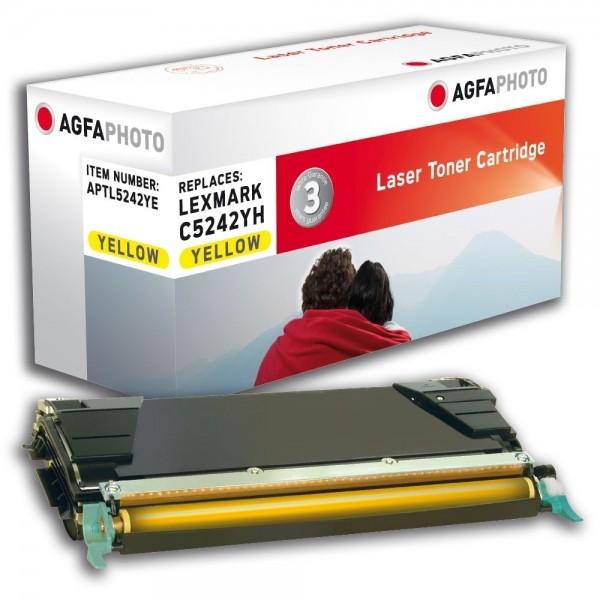AGFA Photo Toner gelb 5242YE für Lexmark C524 C534