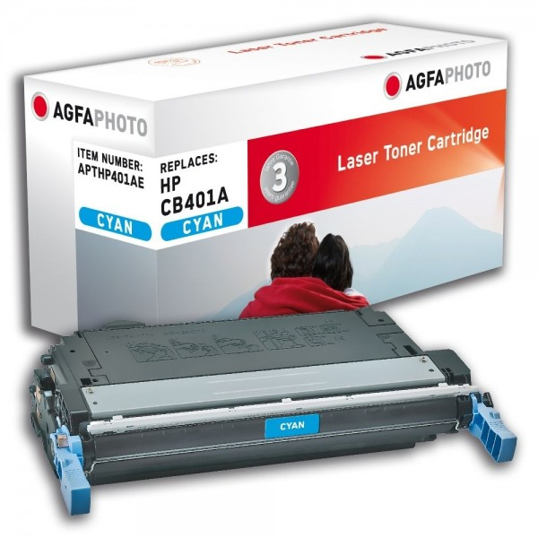 AGFA Photo Toner cyan HP401AE für HP Color LaserJet CP4000 Series