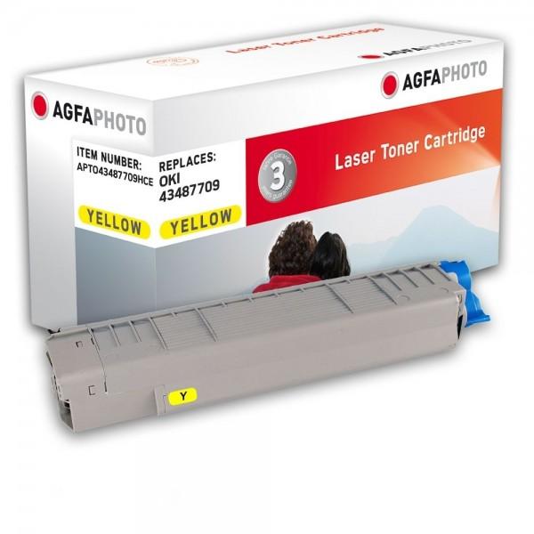 AGFA Photo Toner gelb 43487709HC für OKI C8600 C8800