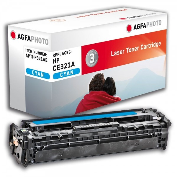 AGFA Photo Toner cyan HP321AE für HP Color LaserJet PRO CM1400 Series