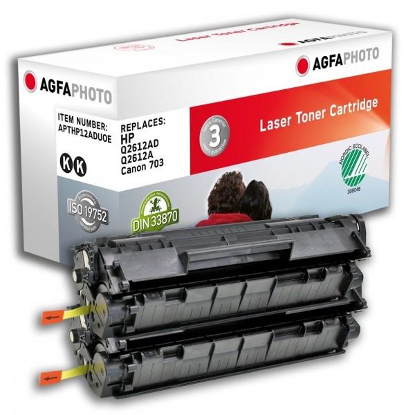 AGFA Photo Toner schwarz HP12ADUOE für HP LaserJet 1010 LaserJet 3000