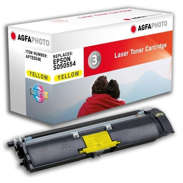AGFA Photo Toner gelb 554E für Epson Aculaser C1600 CX16 S050554