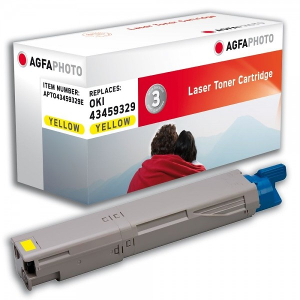 AGFA Photo Toner gelb 43459329E für Oki Data C3300 C3400