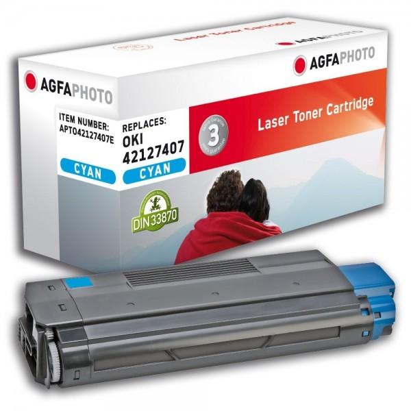 AGFA Photo Toner cyan 42127407E für OKI C5100 C5200 C5300 C5400