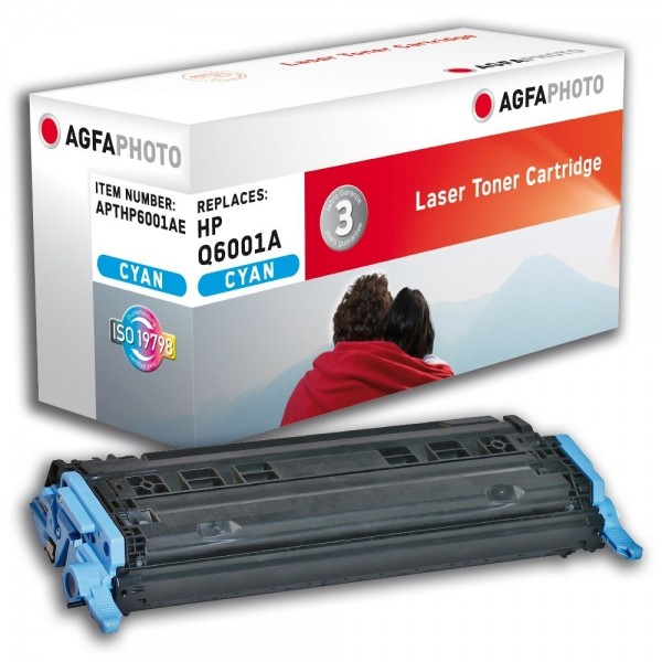 AGFA Photo Toner cyan HP6001AE für HP Color LaserJet 2600 Series