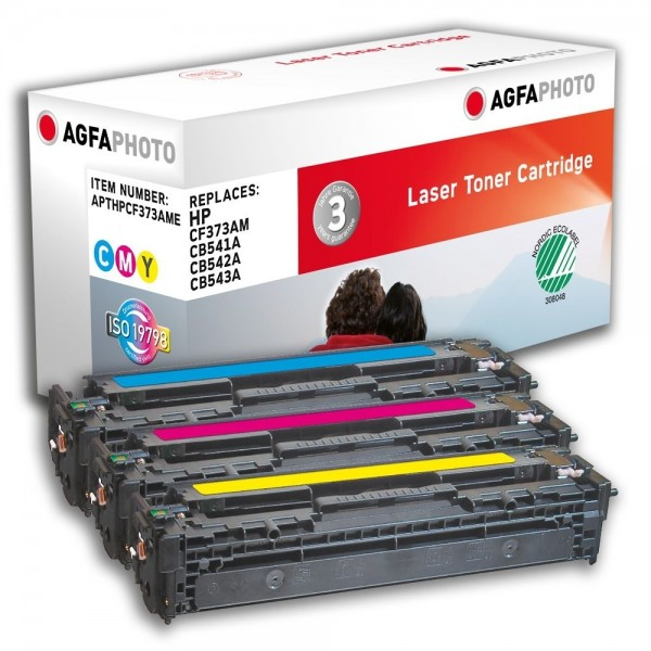 AGFA Photo Toner cyan,magenta,gelb Multipack HPCF373AME für HP Color LaserJet CM1300 Series