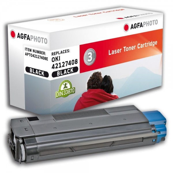 AGFA Photo Toner schwarz 42127408E für OKI C5100 C5200 C5300 C5400