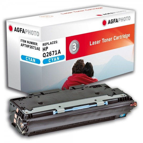 AGFA Photo Toner cyan HP2671AE für HP Color LaserJet 3500