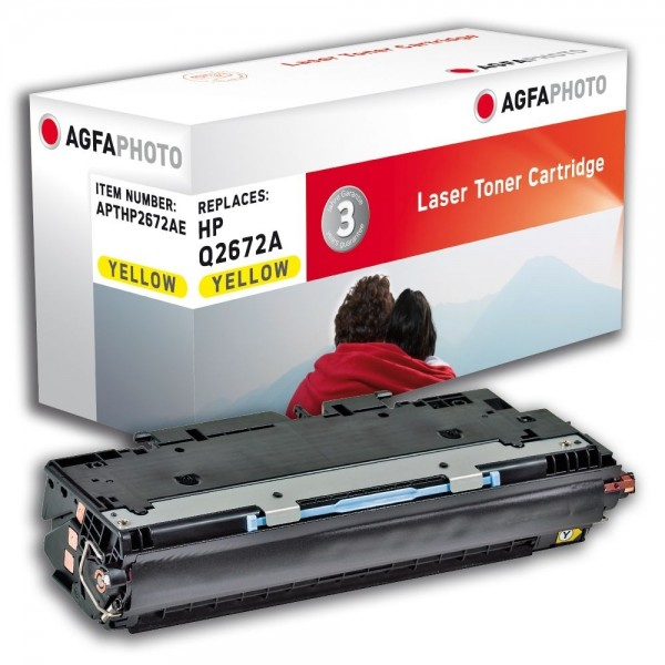 AGFA Photo Toner gelb HP2672AE für HP Color LaserJet 3500