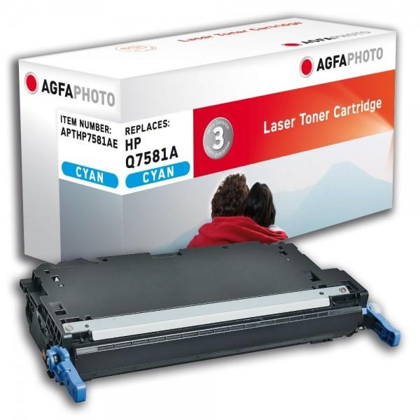 AGFA Photo Toner cyan HP7581AE für HP Color LaserJet 3800 Series