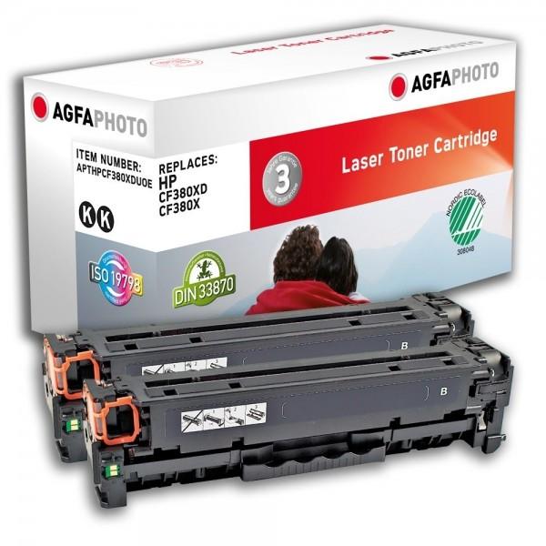 AGFA Photo Toner schwarz 312A Doppelpack HPCF380XDU für HP Color LaserJet PRO MFP M476