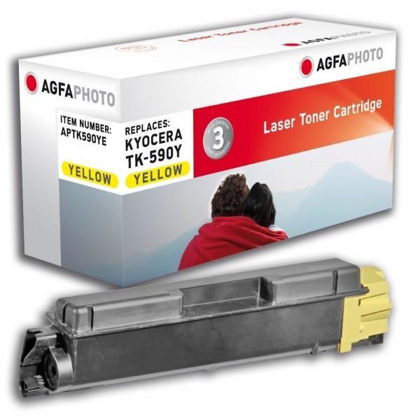 AGFA Photo Toner gelb TK-590YE für Kyocera FS-C2026 FS-C2126