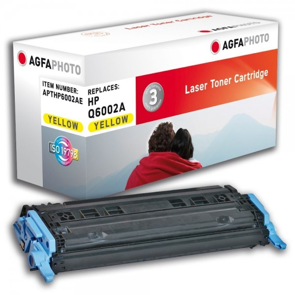 AGFA Photo Toner gelb HP6002AE für HP Color LaserJet 2600 Series
