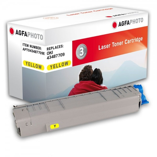 AGFA Photo Toner gelb 43487709E für OKI C8600 C8800