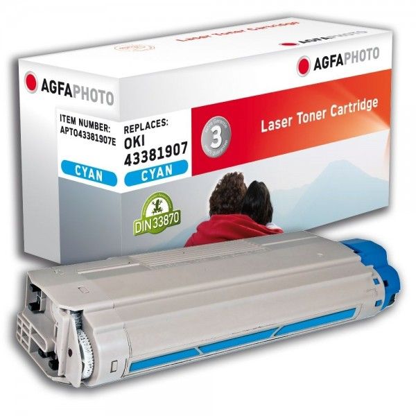 AGFA Photo Toner cyan 43381907E für Oki Data C5600 C5700