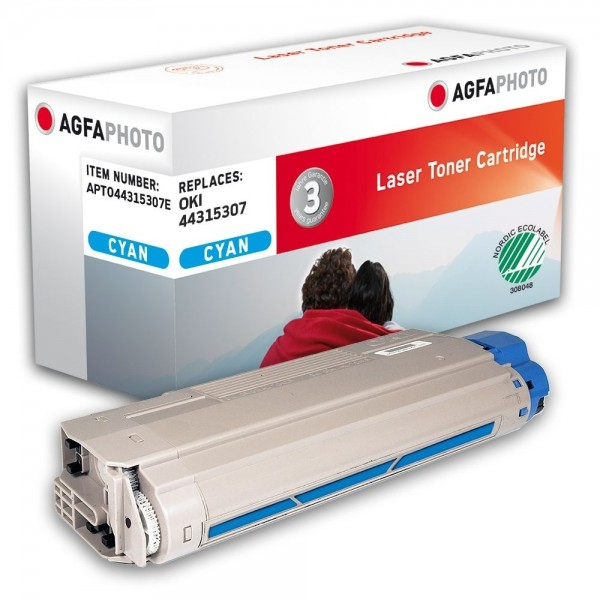 AGFA Photo Toner cyan 44315307E für OKI C610