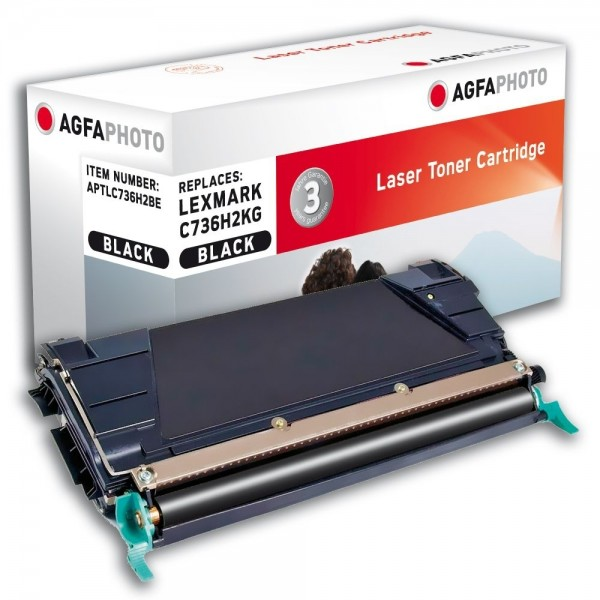 AGFA Photo Toner schwarz C736H2BE für Lexmark C736 X738
