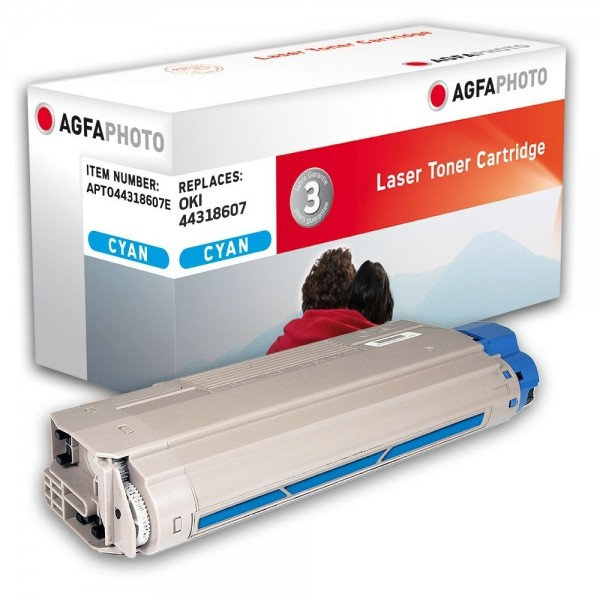 AGFA Photo Toner cyan 44318607E für OKI C710