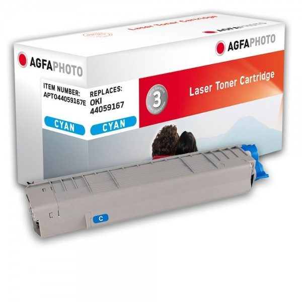 AGFA Photo Toner cyan 44059167E für OKI MC851 MC861