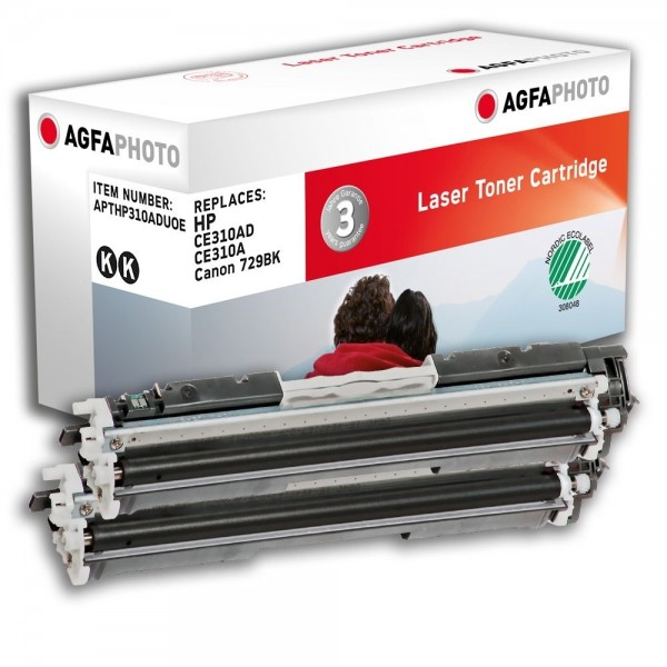 AGFA Photo Toner schwarz HP310ADUOE für HP Color LaserJet PRO CP1000 Series