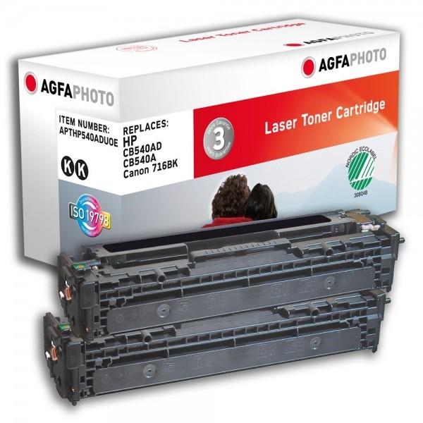 AGFA Photo Toner schwarz Doppelpack HP540ADUOE für HP Color LaserJet CM1300 Series