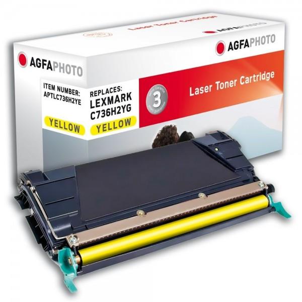 AGFA Photo Toner gelb 736H2YE für Lexmark C736 X738