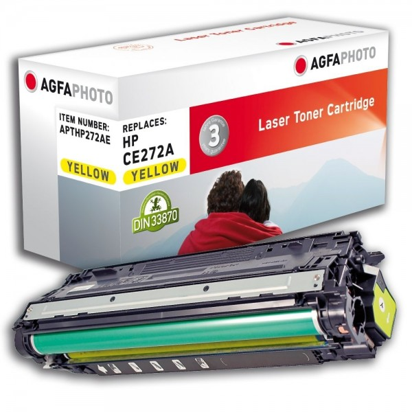 AGFA Photo Toner gelb HP272AE für HP Color LaserJet Enterprise CP5500 Series