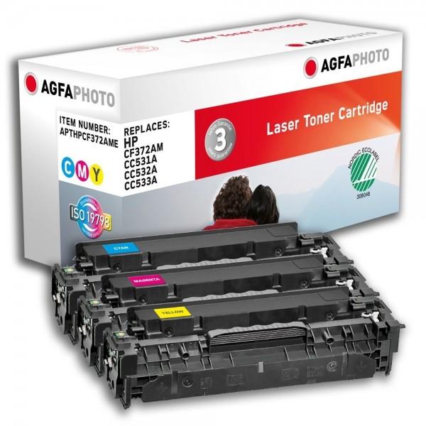 AGFA Photo Toner cyan,magenta,gelb Multipack HPCF372AME für HP Color LaserJet CM2300 Series