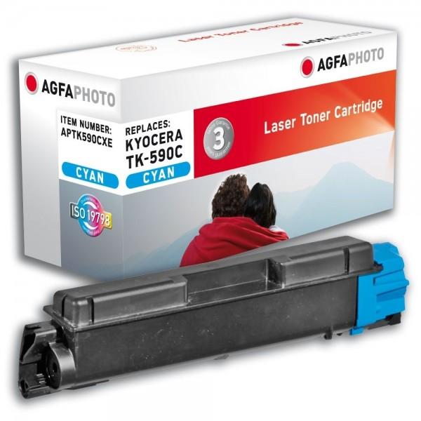 AGFA Photo Toner cyan TK-590CXE für Kyocera FS-C2026 FS-C2126