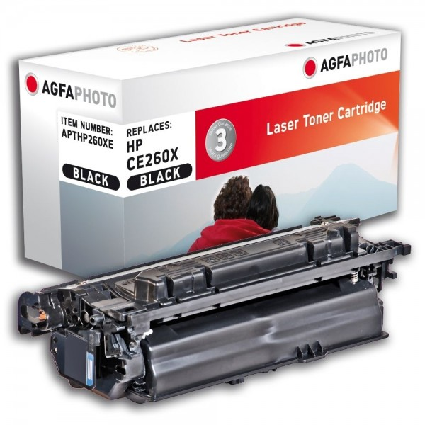AGFA Photo Toner schwarz HP260XE für HP Color LaserJet CP4500 Series