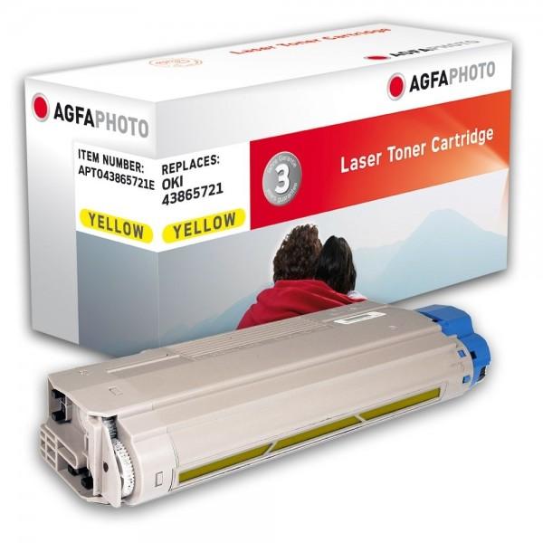 AGFA Photo Toner gelb 43865721E für OKI C5850 C5950