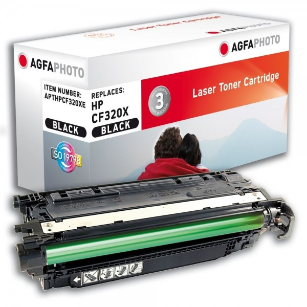 AGFA Photo Toner schwarz HPCF320XE für HP Color LaserJet Enterprise M651 Series