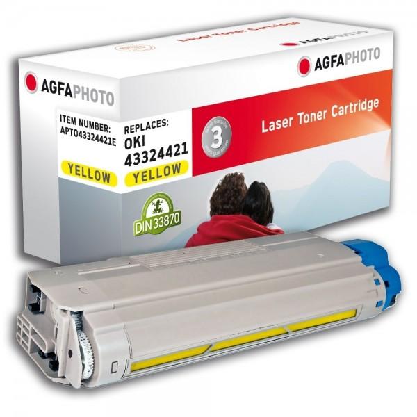 AGFA Photo Toner gelb 43324421E für Oki Data C5500 C5800
