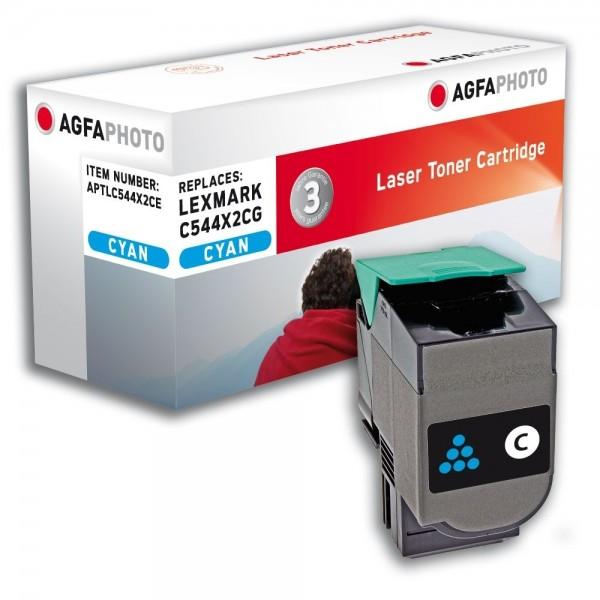 AGFA Photo Toner cyan C544X2CE für Lexmark C544 C546