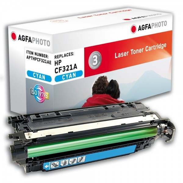 AGFA Photo Toner cyan HPCF321AE für HP Color LaserJet Enterprise M651 Series