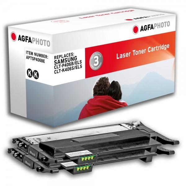 AGFA Photo Toner schwarz Doppelpack P406BE Samsung CLP-360 CLP-365