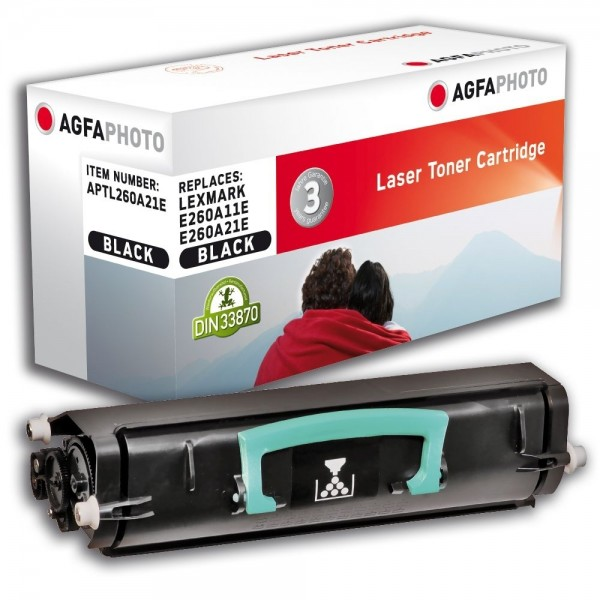 AGFA Photo Toner schwarz 260A21E für Lexmark E260 E360