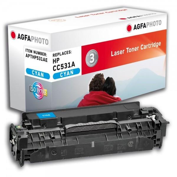 AGFA Photo Toner cyan HP531AE für HP Color LaserJet CM2300 Series