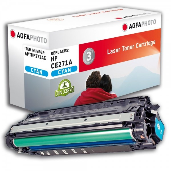 AGFA Photo Toner cyan HP271AE für HP Color LaserJet Enterprise CP5500 Series