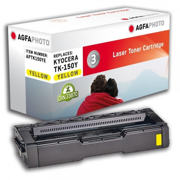AGFA Photo Toner gelb TK-150YE für Kyocera FS-C1020 MFP