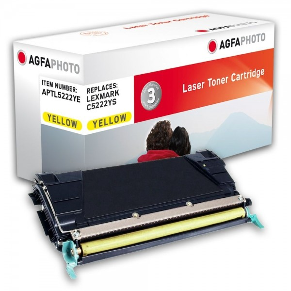 AGFA Photo Toner gelb 5222YE für Lexmark C522 C524 C532 C534