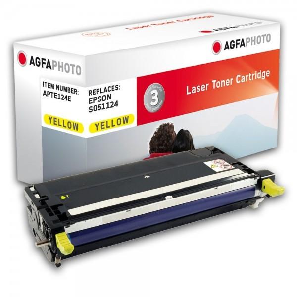 AGFA Photo Toner gelb 124E für Epson Aculaser C3800 S051124