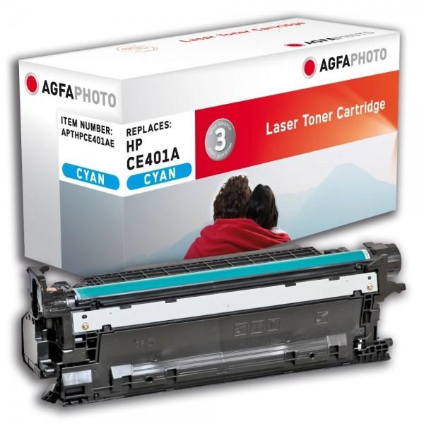 AGFA Photo Toner Cyan HPCE401AE für HP LaserJet Enterprise 500 Color M551 M575