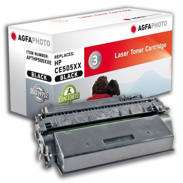 AGFA Photo Toner schwarz HP505XXE für HP LaserJet P2030 LaserJet P 2050