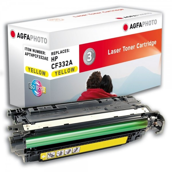 AGFA Photo Toner gelb HPCF332AE für HP Color LaserJet Enterprise M651dn